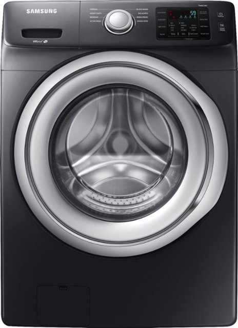 Samsung - 4.5 Cu. Ft. 8-Cycle Front-Loading Washer - Fingerprint Resistant Black Stainless Steel