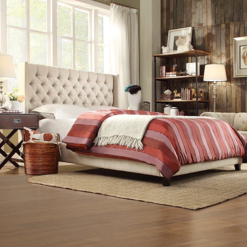 Borchers+Upholstered+Platform+Bed